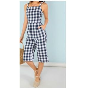 Other - Casual Plaid Jumpsuit